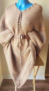 Blanket shawl Handmade (poncho)
